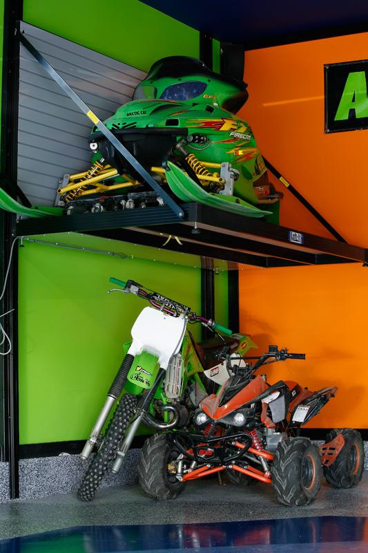 Snowmobile Garage Storage : Garage lifts and storage solutions
