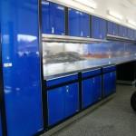 Blue Garage Cabinets