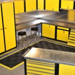Yellow Custom Garage Cabinets | GarageGuyz